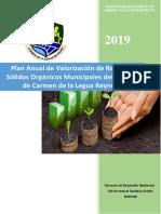 PLAN ANUAL DE VALORIZACION DE RR.SS ORGANICOS  2019 2