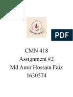 CMN418 Assignment 2