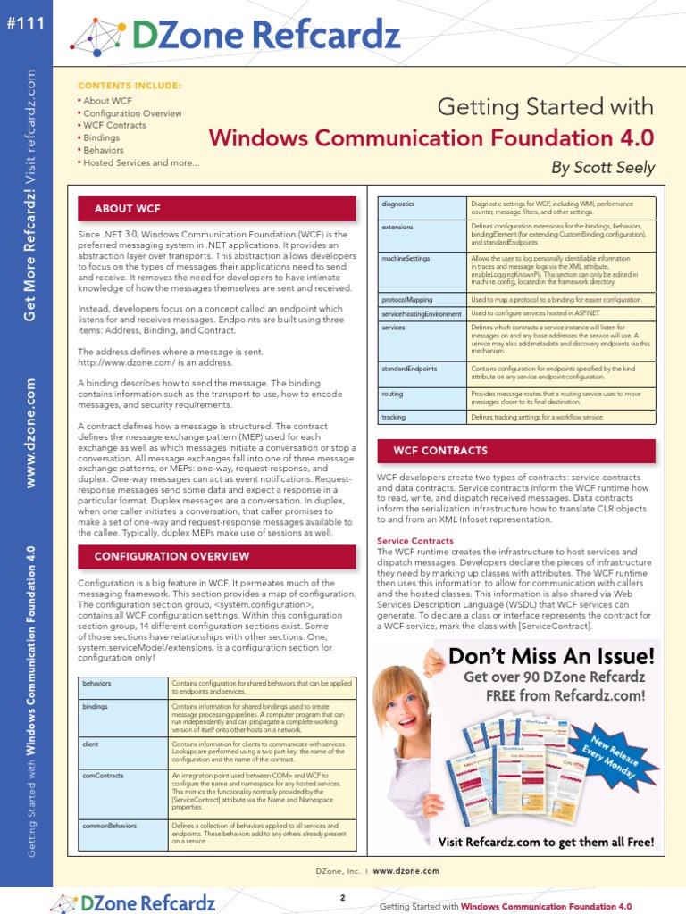 WCF4 0 | Windows Communication Foundation | Computing