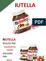 Analyse de l'environnement de Nutella