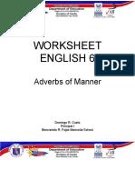 MELC Eng 6 Q4G WORKSHEET Adverbs of Manner