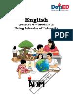 MELC English 6 Q4 Grammar Using Adverbs of Intensity