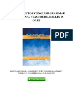 [G795.Ebook] Free PDF An Introductory English Grammar By Norman C Stageberg Dallin D Oaks