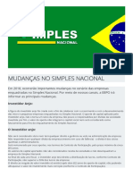 CONTABILIDADE - SIMPLES NACIONAL - INVESTIDOR ANJO