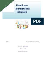 PLANIFICARE INTEGRATA  cls II   2020-2021 FINALĂ - Copy