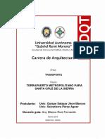 PROYECTO DE GRADO 1 - TRANSPORTE