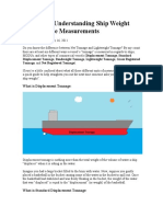 A Guide to Understanding Ship Weight and Tonnage Measurements