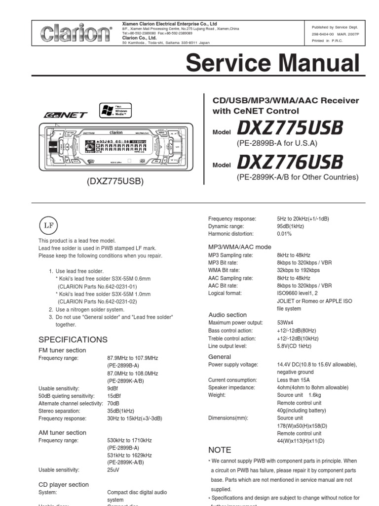 Cute Clarion Vz401 Wiring Diagram Photos - Electrical and Wiring ...