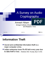 A Survey on Audio Cryptography