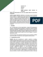 DEMANDA DE MEJOR DERECHO DE POSESION