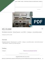 Bordadeira industrial - Borda Especial - ano 2002 - 2 cabeças - em perfeito estado - Máquinas para produção industrial - Sul (Águas Claras), Brasília 771592460 _ OLX
