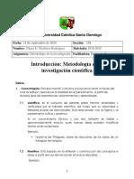 Introduccion. metodologia cientifica ^N1