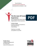 The Six Laws Of Customer EXPERIENCE B.TEMKIN