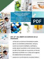 CAPÍTULO VI DEL EJERCICIO PROFESIONAL DEL QUIMICO FARMACEUTICO