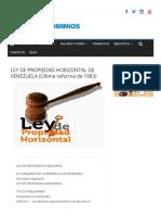 LEY DE PROPIEDAD HORIZONTAL DE VENEZUELA (Última reforma de 1983) – Pro Condominios Venezuela.pdf
