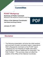 PCAST Public Comments Summary Jjs