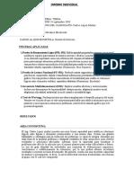 informe individual pruebas aplicadas