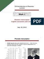 Consonant + Vowel