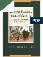 Lozano Domingo - Lenguaje femenino, lenguaje masculino ¿Condiciona nuestro sexo la forma de hablar.pdf