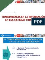 Transparencia en la información