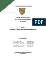 TEMA V ESTADOS Y REPORTES FINANCIEROS BASICOS