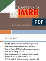 An Introduction to IMRB (Indian Marketing Research Bureau)