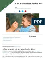 Alimentos sólidos del bebé por edad_ de los 6 a los 8 meses - BabyCenter