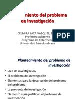 PROBLEMA DE INVESTIGACION-OBJETIVOS-JUSTIFICACION MARCO CONCEPTUAL INV I-2014-1
