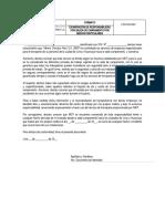 FOR-RSG-007 Exoneración de Responsabilidad por traslado por medios particulares