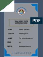 ENSAYO SOBRE EL PODER LEGISLATIVO EN MÉXICO