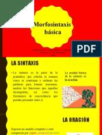 Morfosintaxis básica