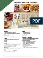 Menus de La Cuisine de Meme Moniq Du 19 Au 25 Septembre