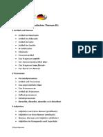 Liste der grammatikalischen Themen B1