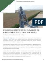 Funcionamiento de un elevador de cangilones, tipos y aplicaciones