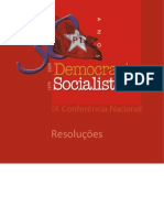 Resoluções da IX Conferência Nacional da Democracia Socialista