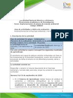 Guia de actividades y Rúbrica de evaluación - Fase 2 - Reconocimiento de la línea base ambiental y normatividad