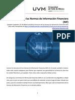 U4_Estructura de las Normas de Información Financiera (NIF)