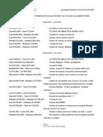 STRUCTURA ANULUI UNIVERSITAR 2010-2011