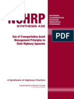 TRANSPORTATION RESEARCH BOARD, Use of transportation asset management principles in state highway agencies, 2013