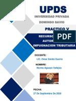 ACTIVIDAD 5- Recurso De Impugnacion Tributario