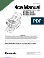 Panasonic kxfl612cx Service Manual
