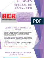 REGIMEN ESPECIAL DE RENTA - RER