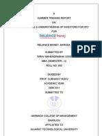 Report on awareness & understanding of investors for Initial Public Offering