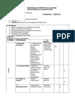 MICROCURRICULO PSICOLOGIA SOCIAL COMUNITARIA