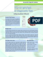 COVID-19 IgM-IgG Rapid Diagnostic Test Information Sheet