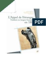 L'Appel à l'étranger, traduire en langue française en 1886