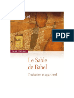 Le sable de Babel. Traduction et apartheid