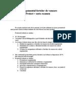 Managementul fortelor de vanzare Proiect