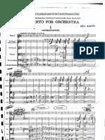 Bartok - Concerto for Orchestra (full score)