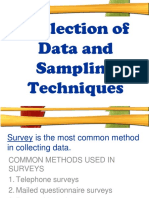 5 Collection of data and sampling techniques